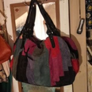 Large Suede Lucky Brand Bag